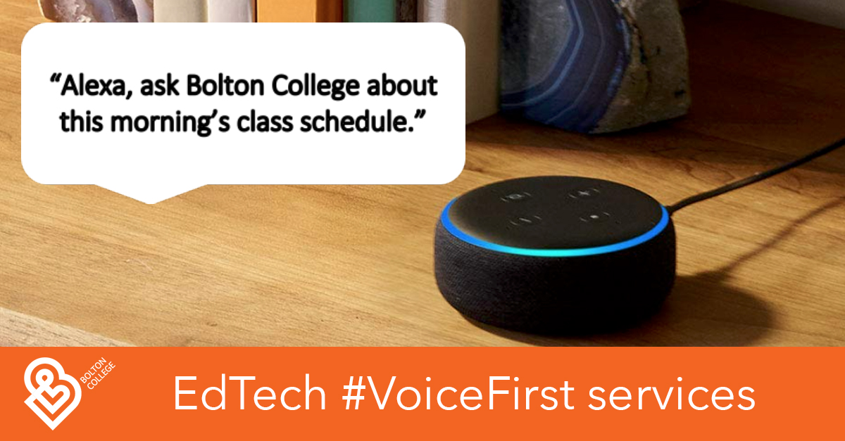 Alexa, ask Bolton College